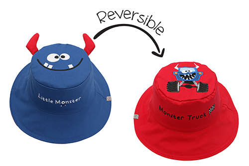 Reversible Kids & Toddler Sun Hat - Monster Car