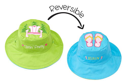 Reversible Kids & Toddler Sun Hat - Muskoka Chair & Flip Flops