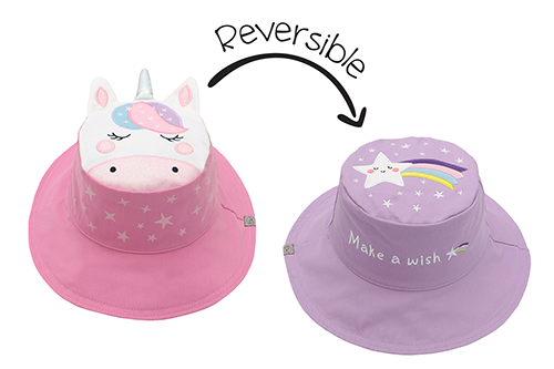 Reversible Kids & Toddler Sun Hat - Unicorn & Star