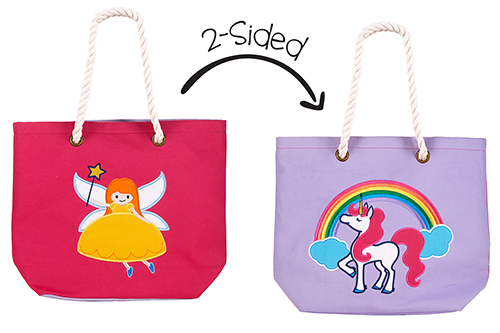 Kids Two-Sided Tote Bag - Fairy & Unicorn