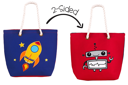 2-Sided Tote - Spaceship | Robot