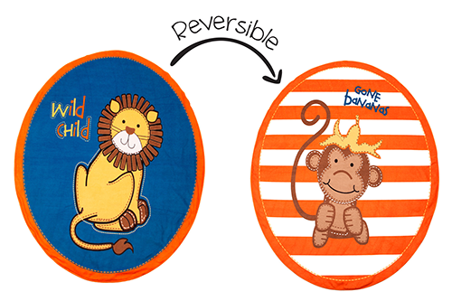 Reversible Kids Towel - Lion / Monkey