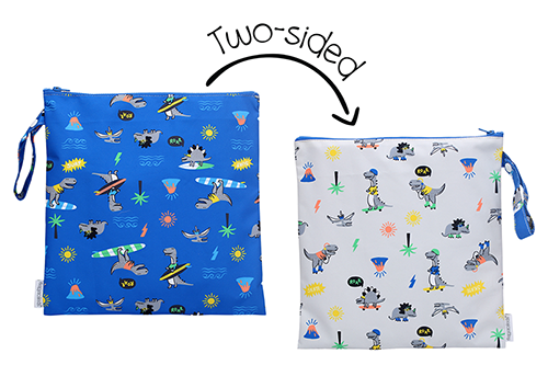 Kids 2-Sided Wet Bag - Dino