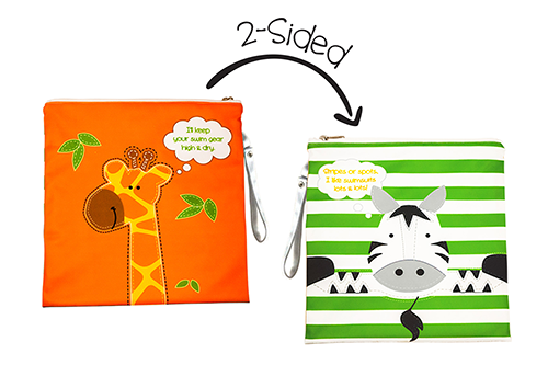 Kids 2-Sided Wet Bag - Giraffe | Zebra