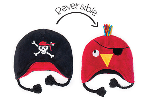 Reversible Kids & Baby Winter Hat - Pirate & Parrot