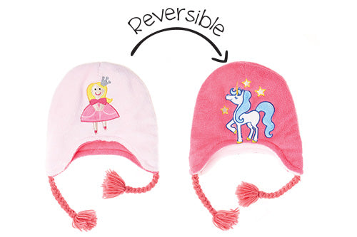 Reversible Kids & Baby Winter Hat - Princess & Unicorn