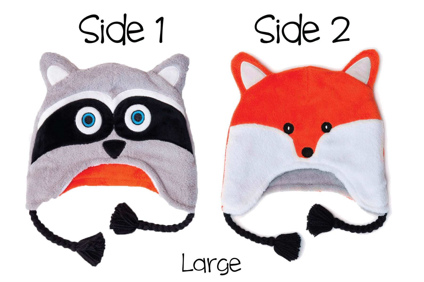 toddler Beanie hats 3-6mo and Baby Racoon Baby Fox