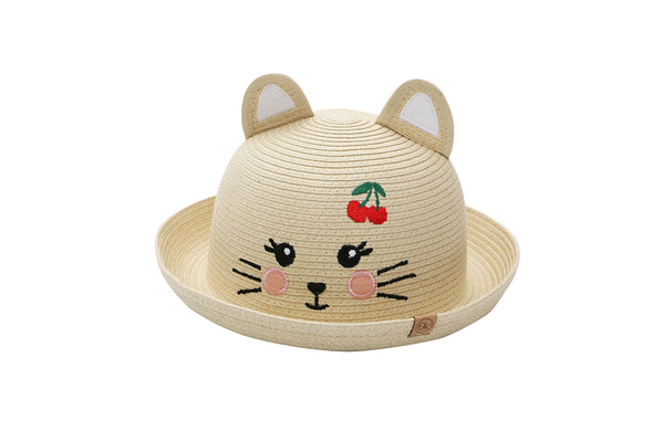 Kids Straw Hat - Cat