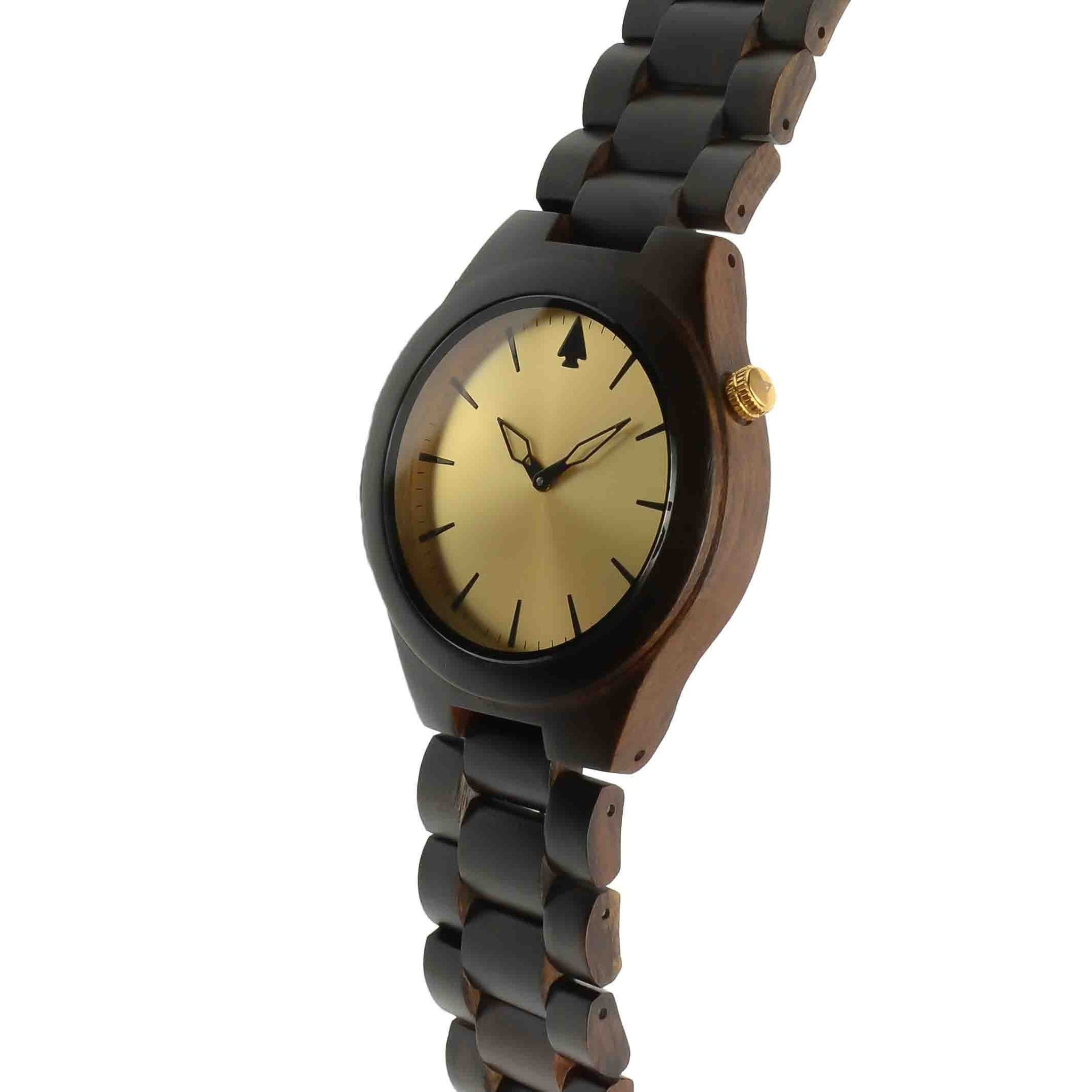 wood womens watches leather red sandalwood