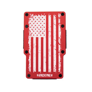 Red American Flag Wallet by Apache Pine
