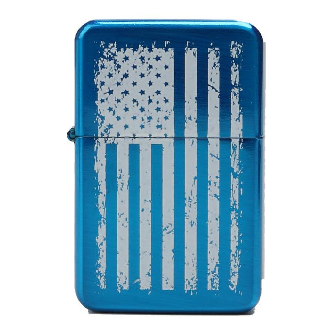 Blue American Flag Lighter by Apache Pine