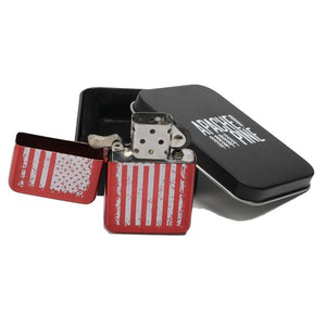 Red American Flag Lighter by Apache Pine