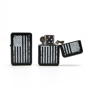 Black American Flag Lighter by Apache Pine