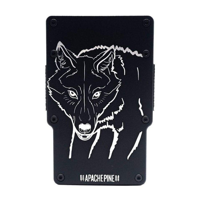 Black Wolf Wallet by Apache Pine