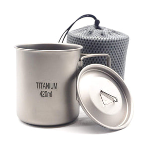 Titanium Backpacking Cup - 420 ml by Apache Pine