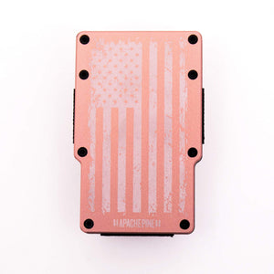 Rose Gold American Flag Wallet by Apache Pine