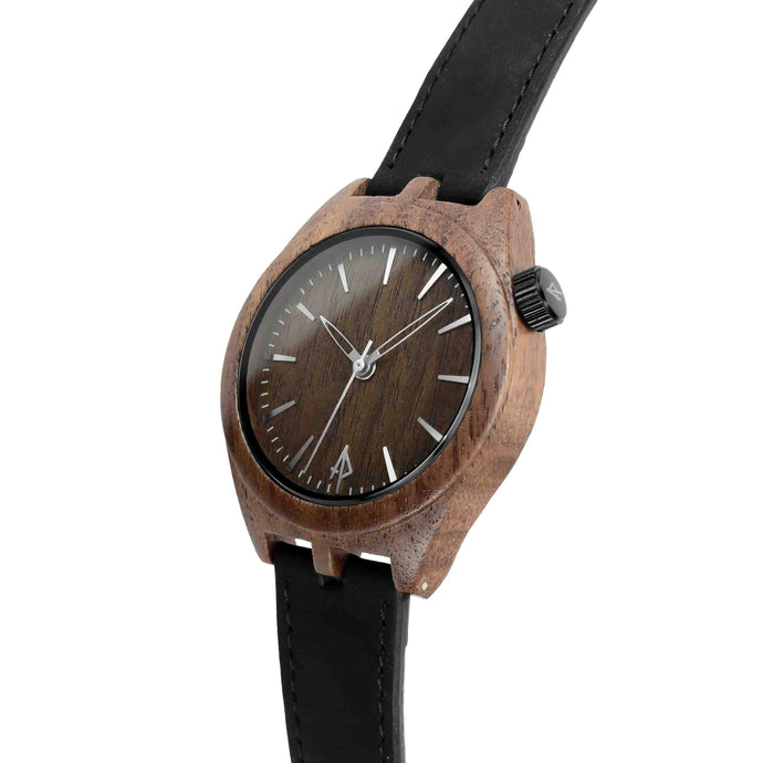 Sqwatch - Walnut Wooden Watch by Apache Pine