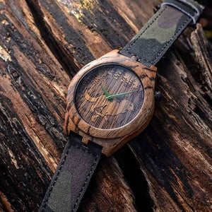 The Wild - Zebrawood Wooden Watch by Apache Pine