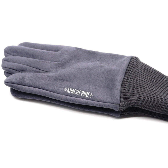 Grey Running Gloves by Apache Pine
