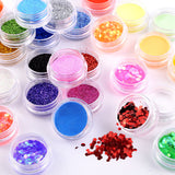 48 Colors Nail Art Glitter Sequins Acrilic Powder Set - Fräulein3°8 - 2