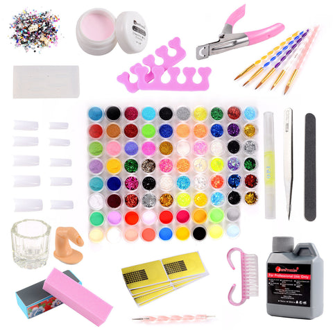 78 Colors Acrylic Nail Art and Manicure Kit - Fräulein3°8 - 1