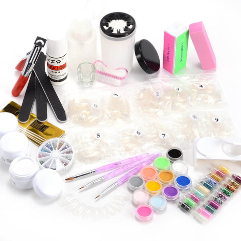 17 in 1 Nail Art Set 12 Colors Acrylic Powder - Fräulein3°8 - 1