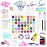Set for Acrylic Nail Art and UV Gel Manicure 48 Colors - Fräulein3°8 - 1