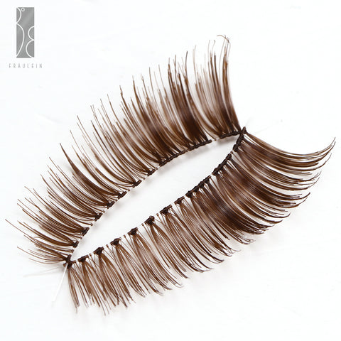 Fräulein3°8 20 Pairs of Brown Curly Eyelashes - Fräulein3°8 - 1