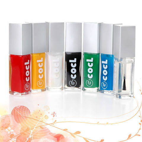 Attractive 7 colors Nail Art Paint Set - Fräulein3°8 - 1