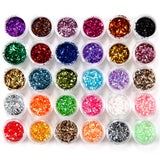 Fräulein3°8 30 Colour Small Sequins Nail Art Glitter (random colors) - Fräulein3°8 - 1
