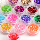 Fräulein3°8 30 Colour Small Sequins Nail Art Glitter (random colors) - Fräulein3°8 - 3
