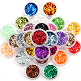 Fräulein3°8 30 Colour Small Sequins Nail Art Glitter (random colors) - Fräulein3°8 - 2