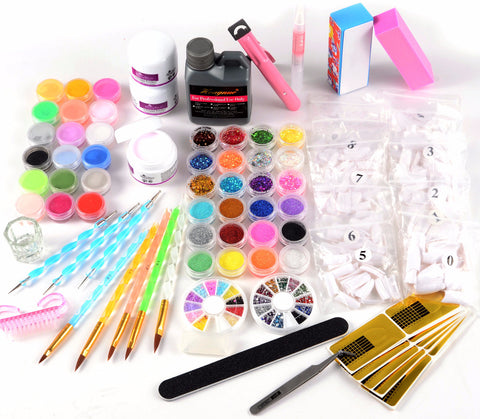 42 Colors Acrylic Nail Art and Manicure Kit - Fräulein3°8 - 1