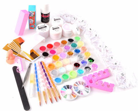 36 Colors Acrylic Nail Art and Manicure Kit - Fräulein3°8 - 1