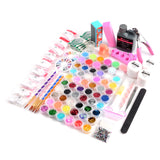 60 Colors Acrylic Nail Art and Manicure Kit - Fräulein3°8 - 1