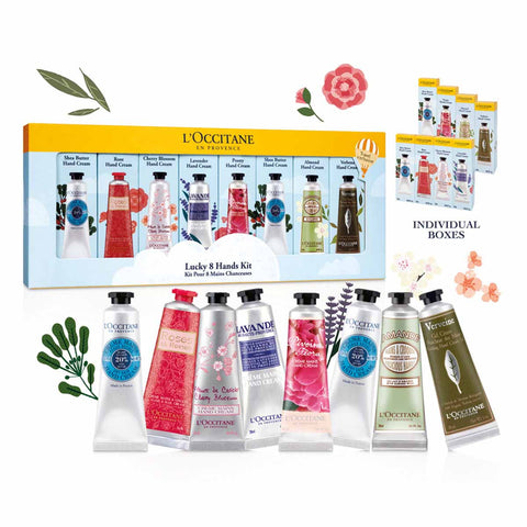 L'Occitane Lucky 8 Hands Kit Hand Cream Set 30ml x 8 – Fräulein3°8