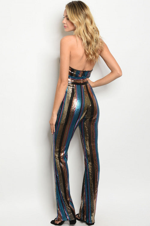 110619- Multi Color Sequin Jumpsuit