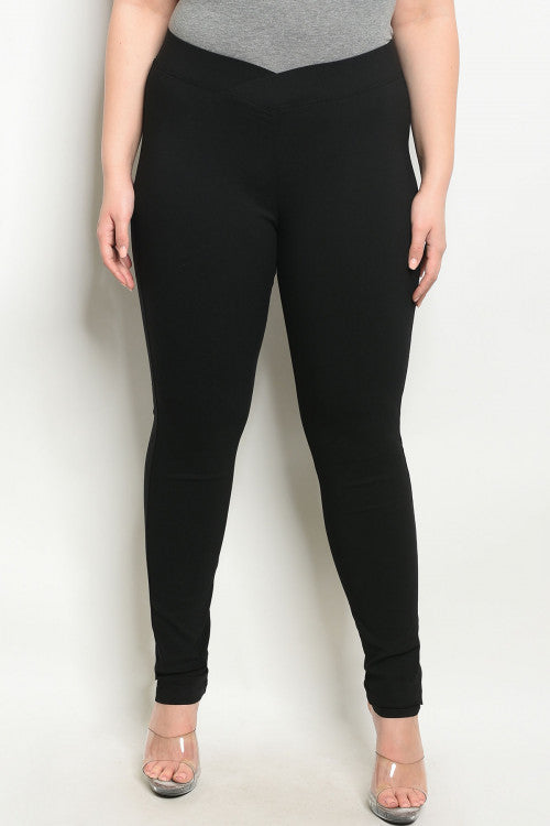2619-Casual Black Leggings