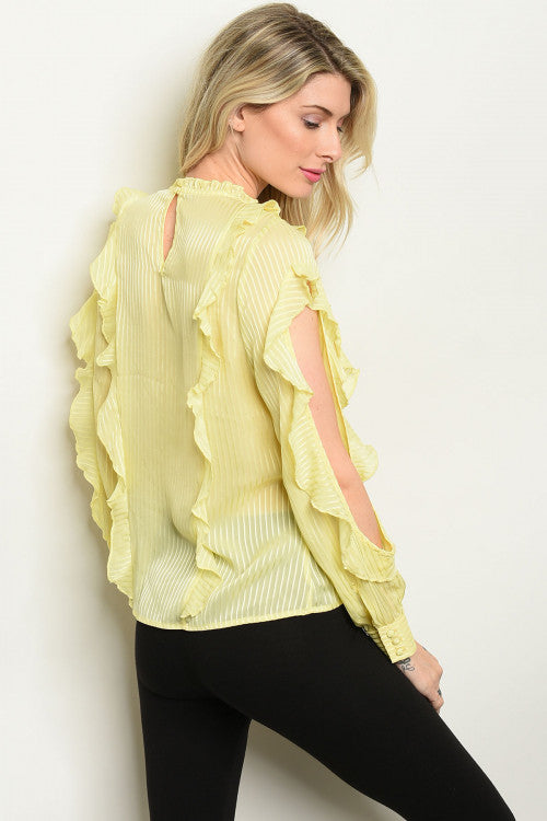 31120-Yellow Sheer Top
