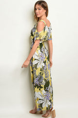 61919-Yellow Floral Dress