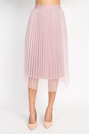 21420-2-Blush Pleated Skirt