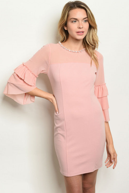 31120-Blush pearl dress