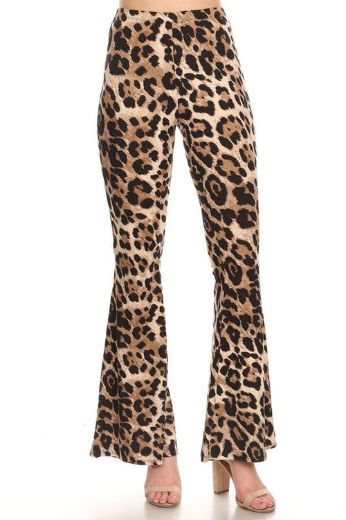 11619-Leopard Bell Bottoms