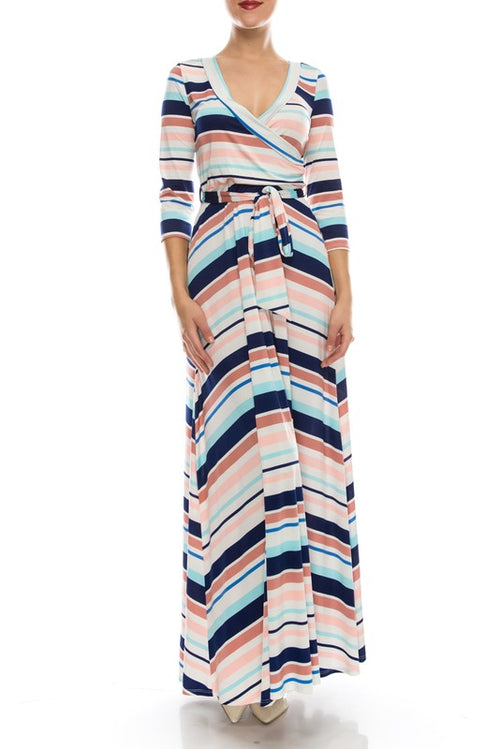 31120-Stripe maxi dress