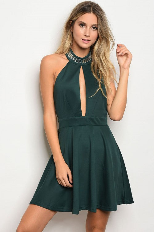 Hunter Beaded Fit Flare Dress