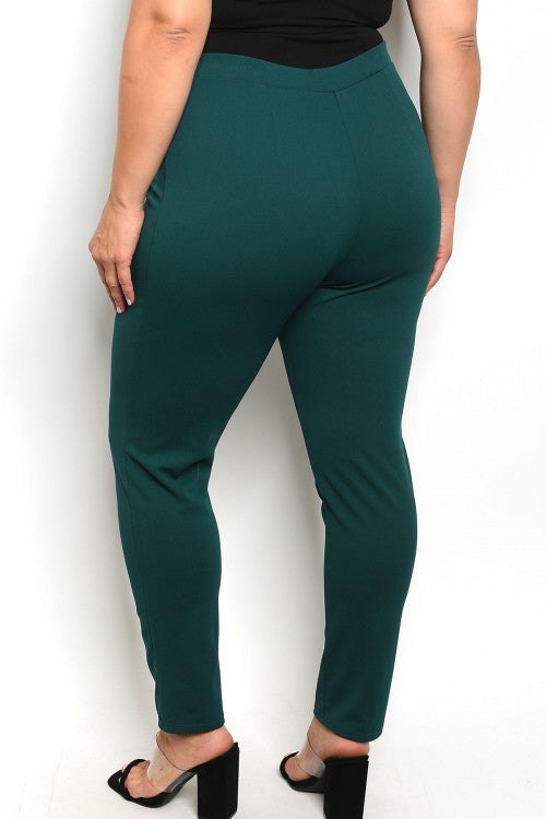 101019- CURVY Emerald Hunter Trousers