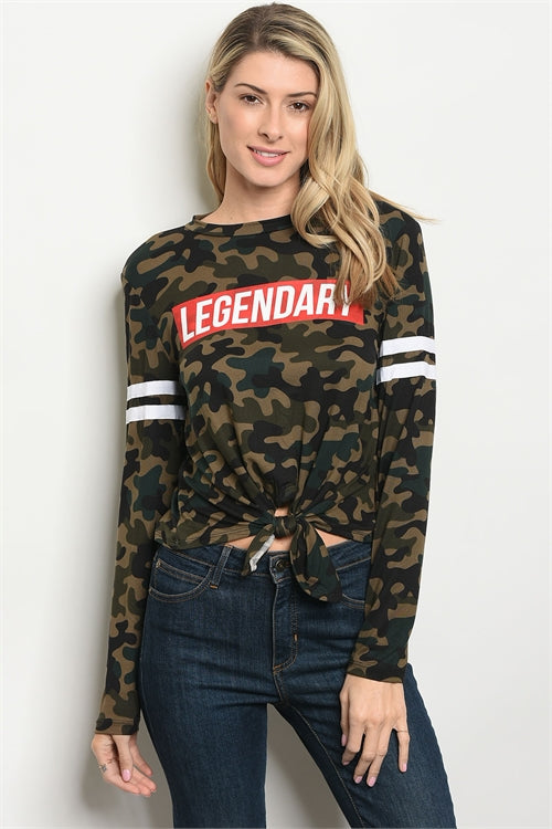 2619- Camouflage Legendary Top