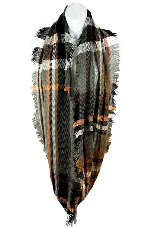 122618- Plaid Infinity Scarf