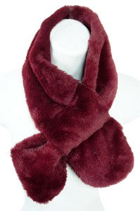 122618- Faux Fur Scarf (COLORS)