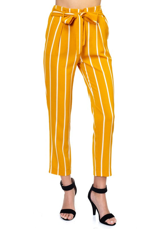 12319- Stripe Crepe Pants